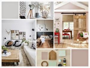 Collage van de stijl die wij ook in huis hebben (geen eigen foto's)